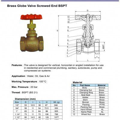 [1]Brass Globe Valve SE BSPT