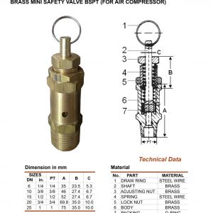 [1]Brass Mini Safety Valve BSPT