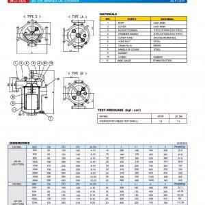 44 FC simplex oil strainer 5k-10k 7209
