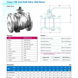 [1]Cast Iron Ball Valve Class 150 FE (full bore)