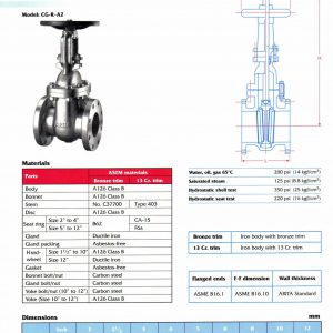 [1]Cast Iron Gate Valve Class 125 (RISING STEM)