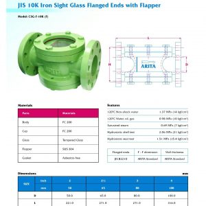 [1]Cast Iron Sight Glass JIS10K FE with SS Flapper