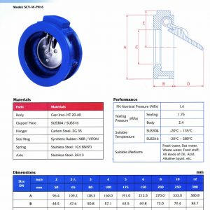 [1]Cast Iron Single Door Swing Check Valve PN16