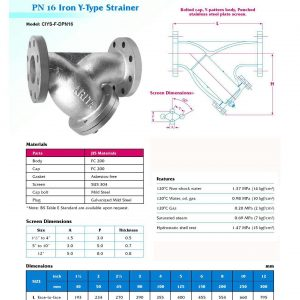 [1]Cast Iron Y-Strainer PN16 FE