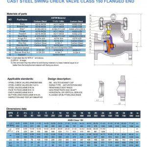 [1]Cast Steel Swing Check Valve Class 150 FE
