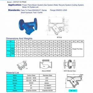[1]Cast Steel Y-Pattern Strainer PN40 FE