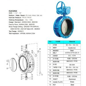 [1]Ductile Iron Double Flanged B'fly Valve -1