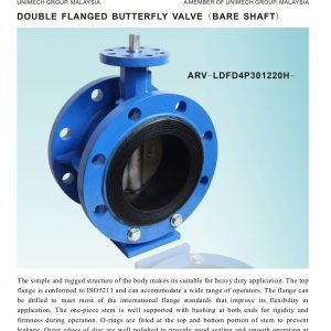 [1]Ductile Iron Double Flanged B'fly Valve (Bare Shaft)