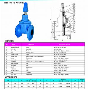 [1]Ductile Iron Resilient Seated Gate Valve PN16 FE (NRS) -1