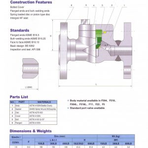 [1]Forged Steel Check Valve FE Class 150,300,600