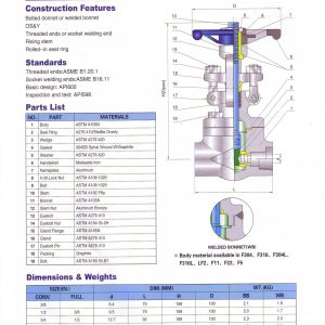 [1]Forged Steel Gate Valve Class 800