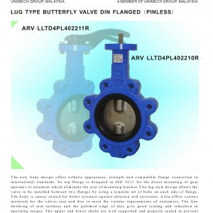 [1]Lug Type B'Fly Valve Din Flanged (Pinless)