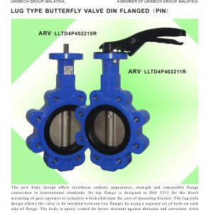 [1]Lug Type B'fly Valve Din Flanged (Pin)