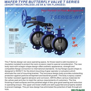 [1]SHORT NECK CI WAFER TYPE B'FLY VLV Universal Flanged (Pinless)