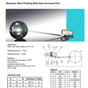 Stainless Steel Float Valve