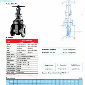 [1]SS Gate Valve Class 150 (outside screw)