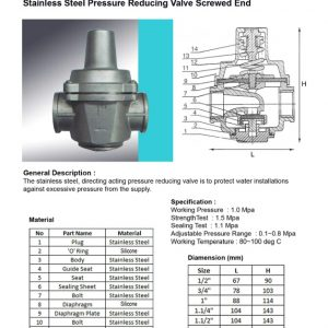 [1]SS Pressure Reducing Valve SE