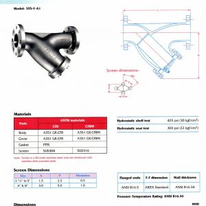 [1]SS Y-Strainer Class 150 FE