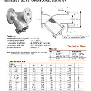 Stainless Steel Y Strainer Archives Unimech Marine