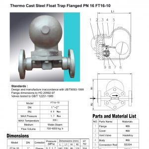 [1]Thermo Cast Steel Float Trap FE PN16 (FT16-10)