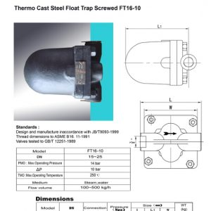 [1]Thermo Cast Steel Float Trap Screwed (FT16-10)