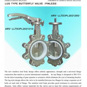 [1]stainless steel Lug Type B'fly Valve (Pinless)
