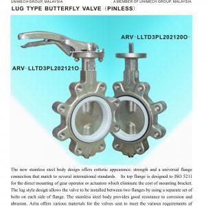 [1]stainless steel Lug Type B'fly Valve (Pinless)