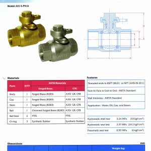 [1]Brass or SS PN16 Lockable Ball Valve