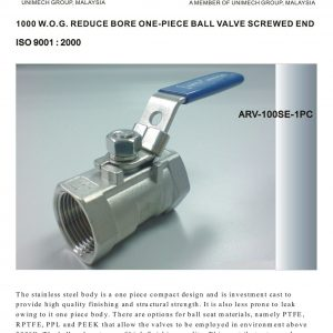 [1]SS 1pc Body Ball Valve SE -1