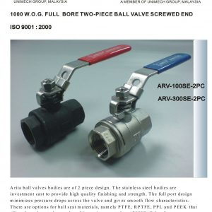 [1]SS 2pc Body Ball Valve SE -1