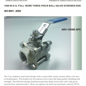[1]SS 3pc Body Ball Valve SE -1