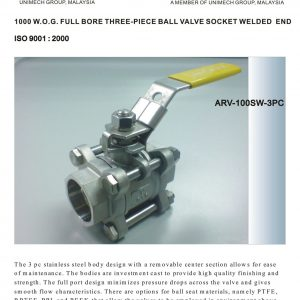 [1]SS 3pc Body Ball Valve Socket Weld -1